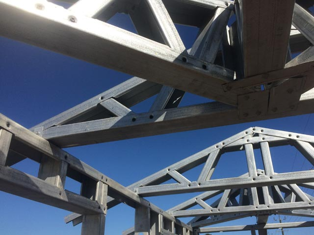 Action Framing Steel Frame Homes Perth Steel Roof Trusses Closeup