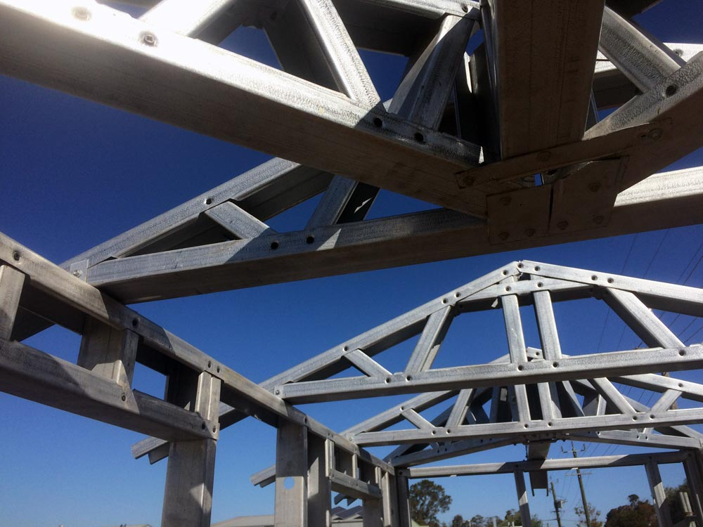 Action Framing Solution Steel Frame Homes Perth Steel Wall Frames Close Up